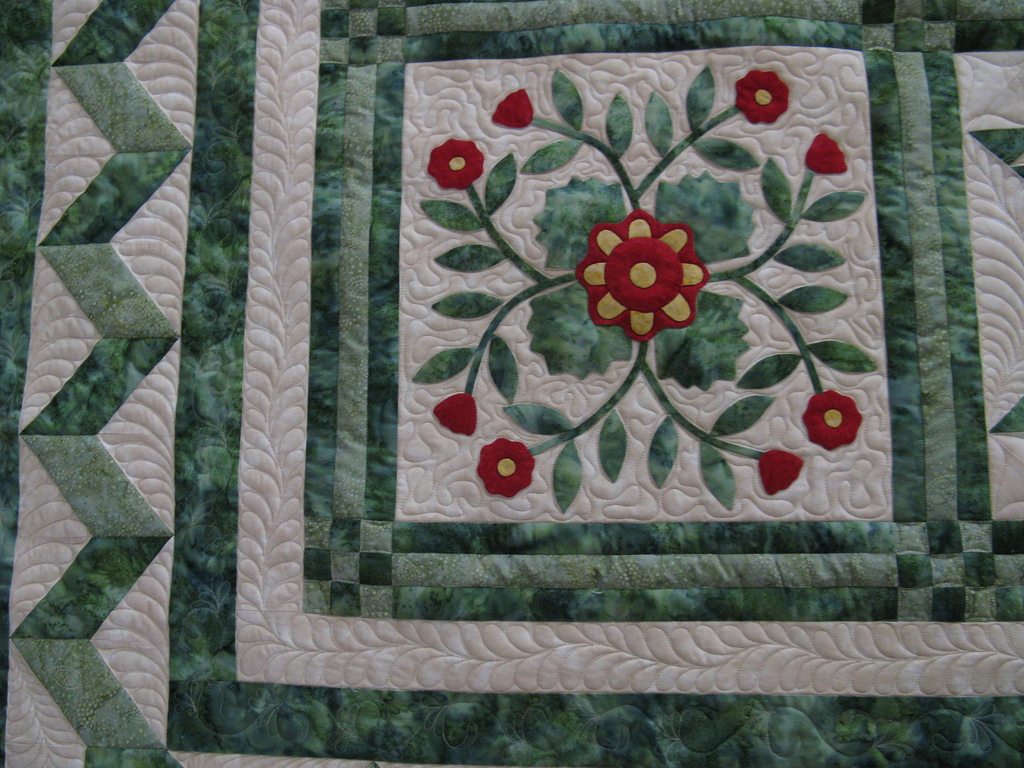 Quilting around embroidery applique youtube