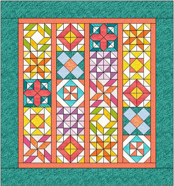 Quilt with sashing and borders