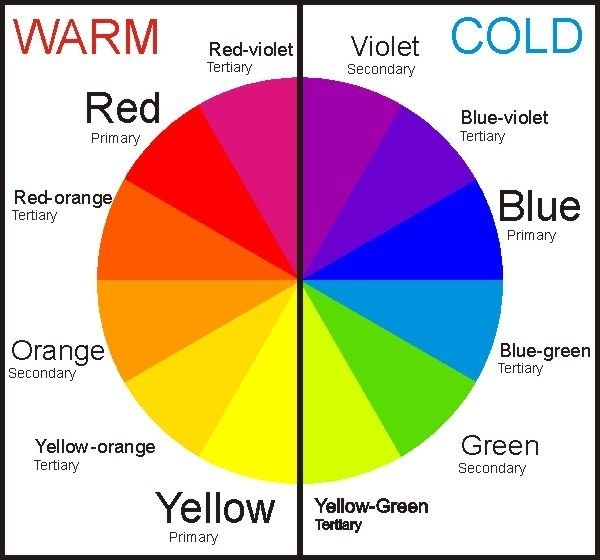 color wheel with warmth